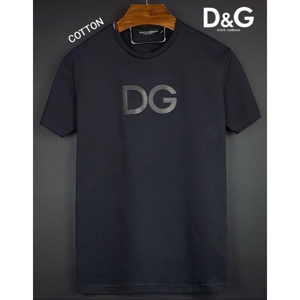 Camiseta Dolce e Gabbana Bordada Coton Peruano Preta