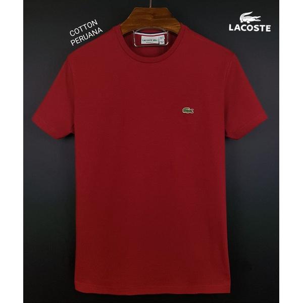 Camiseta Lac Basica Coton Peruano Vermelha