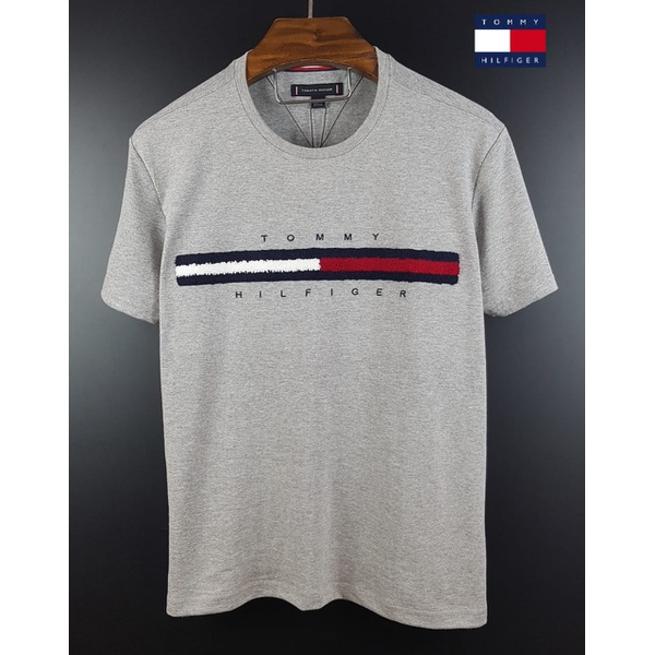 Camiseta Tommy Detalhe Pelos Cinza