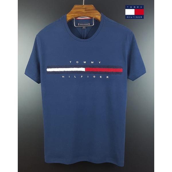 Camiseta Tommy Detalhe Pelos Marinho