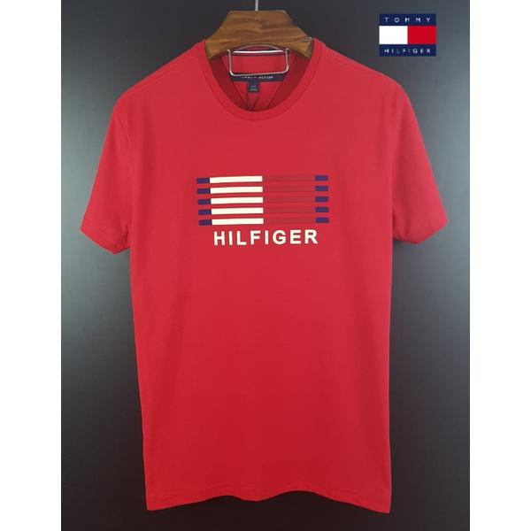 Camiseta Tommy Listras Vermelha
