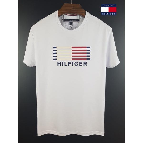 Camiseta Tommy Listras Branca