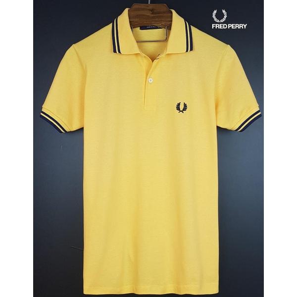 Camisa Gola Polo Fred Perry Amarela