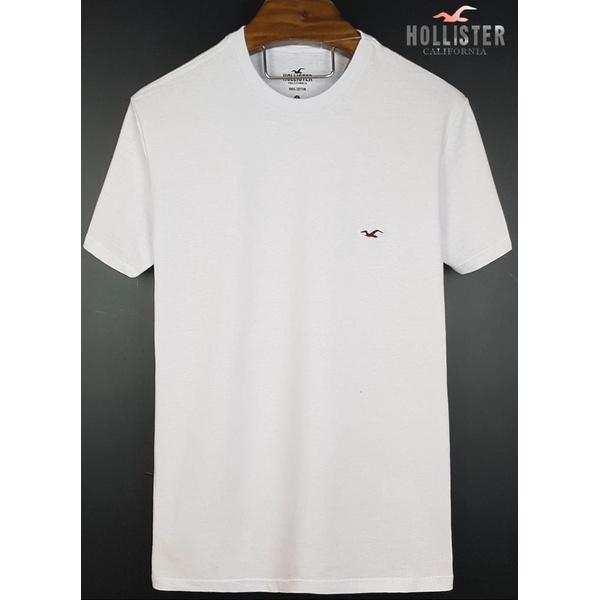 Camiseta Hollister Branca basica 1
