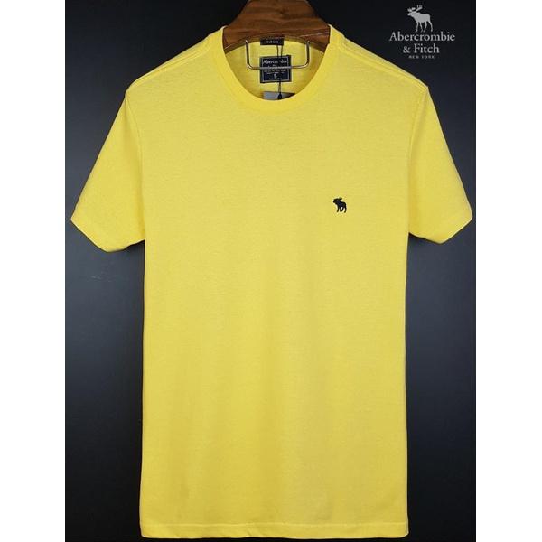 Camiseta Abercrombie Basica Amarela