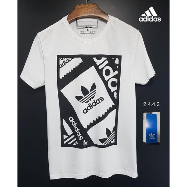 Camiseta Adidas Preta e Branca