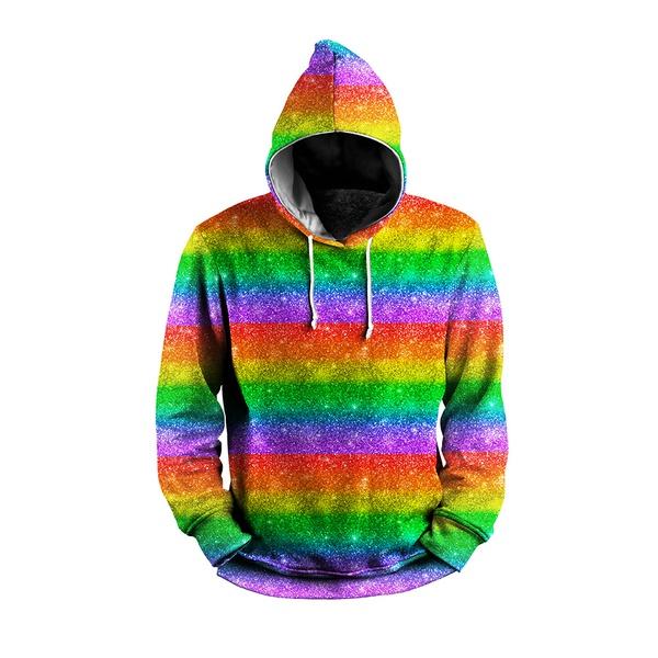 MOLETOM COM CAPUZ LGBT GLITTER