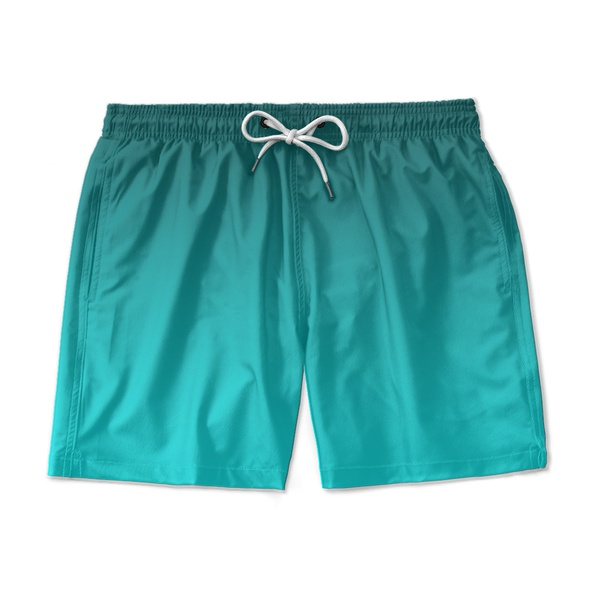 SHORT PRAIA DEGRADE VERDE AGUA