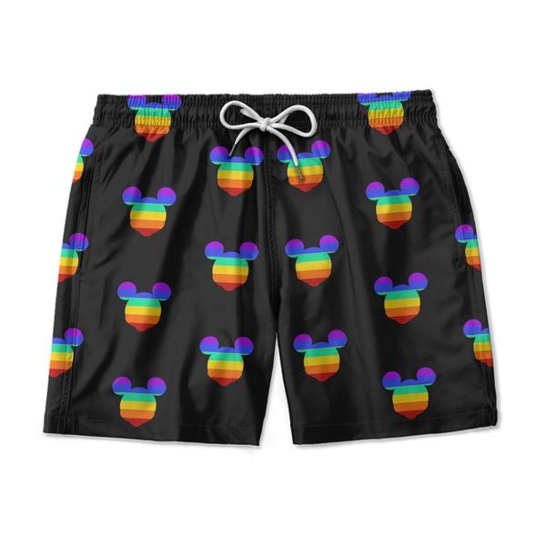 SHORT PRAIA PRETO MICKEY LGBT