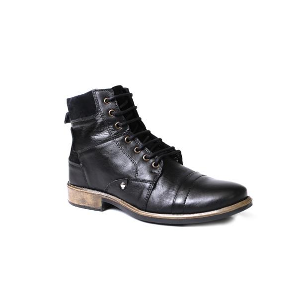 Bota Coturno Masculina Cano Alto Boots Preto