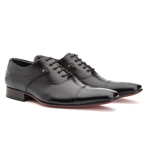 Sapato Social Masculino Oxford Solado em Couro