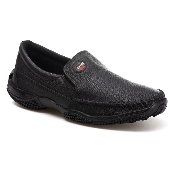 Sapatilha Mocassim Tchwm Shoes Couro Floter Preto