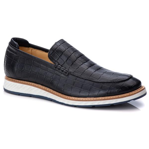 Loafer Premium Couro Estanpado Confort