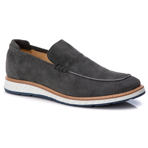 Loafer Premium Couro Camurça Conforto