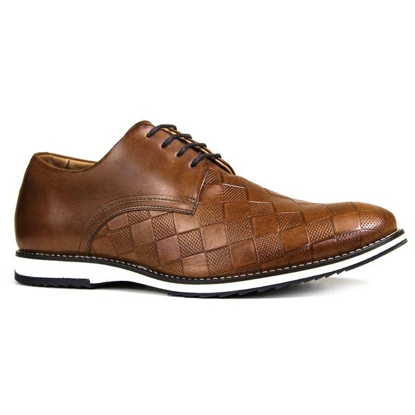 Sapato Derby Couro Confort Tchwm Shoes Castor