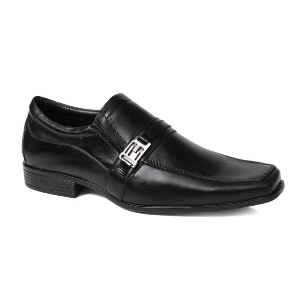 Sapato Social Masculino Fivela em Couro Preto
