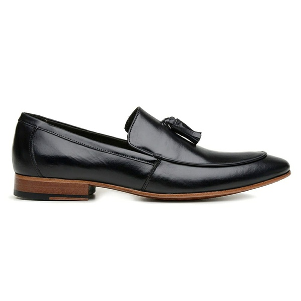 Sapato Loafer Bambolim Premium em Couro Preto