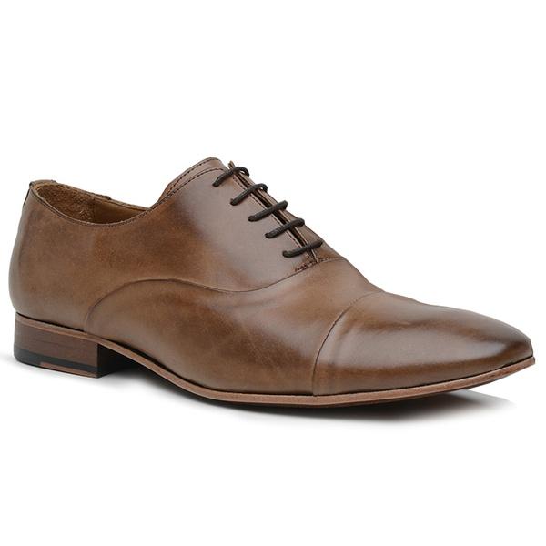 Sapato Social Premium em Couro Caramelo