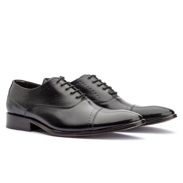 Sapato Oxford Premium Masculino Solado em Couro