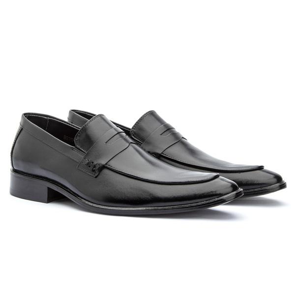 Sapato Loafer Premium Masculino Solado em Couro