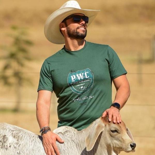Camiseta Masculina Power Country Verde