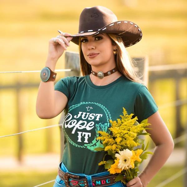 T-Shirt Feminina Power Country Verde