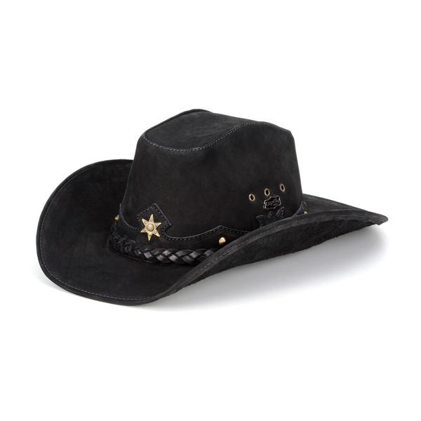 Chapéu Country Estilo Americano com Estrela cor Preto