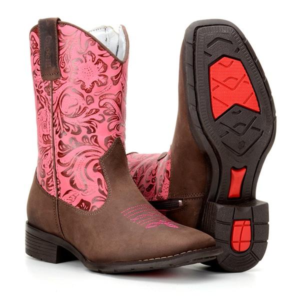 Texana Infantil Menina Cano Floral
