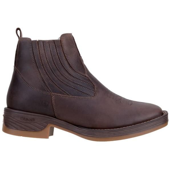 Botina Western Masculina Em Couro Original Capelli Boots