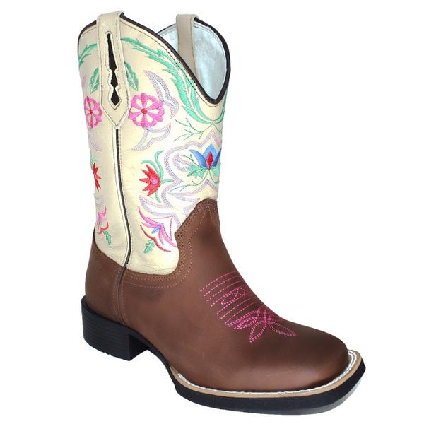 Bota Texana Floral em Couro TexasKing