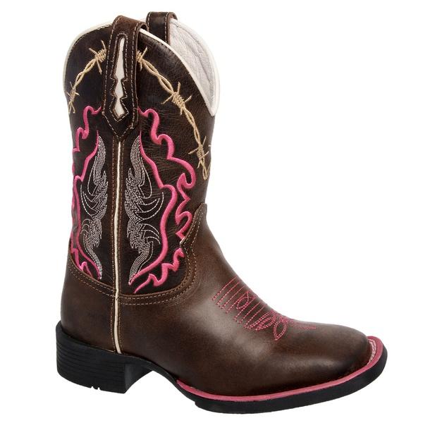 Bota Texana Arame Farpado Pink em Couro