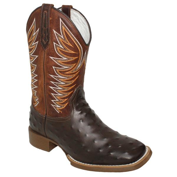 Bota Texana Masculina Réplica de Avestruz
