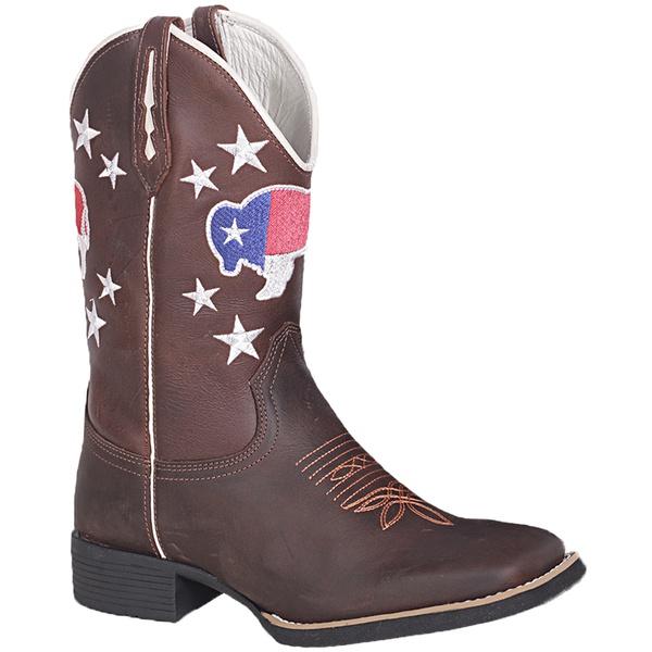 Bota Texana Masculina Boi Texas em Couro