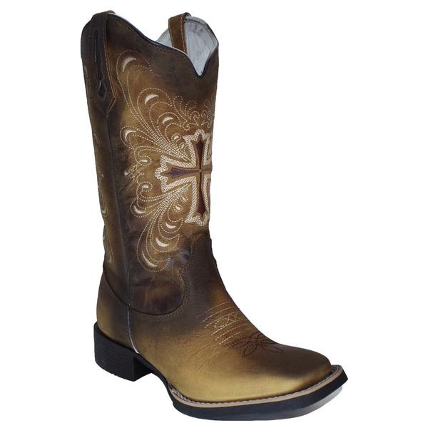Bota Texana Feminina Couro - Último Par 37