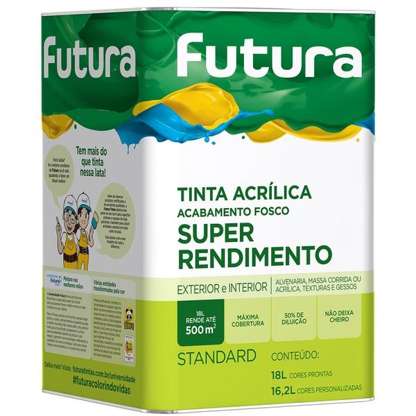 TINTA ACRÍLICA FOSCO SUPER RENDIMENTO 18L FUTURA