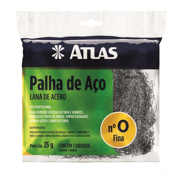 PALHA DE AÇO N°0 25G ATLAS