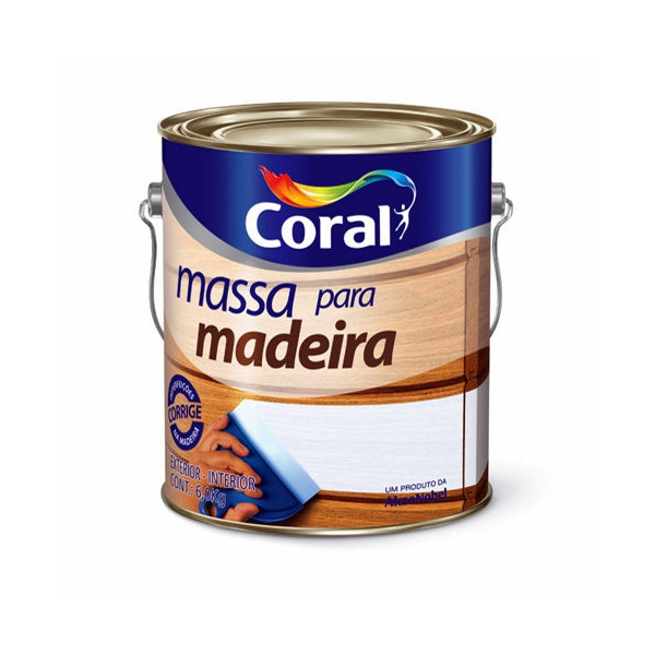 MASSA PARA MADEIRA 6KG CORAL