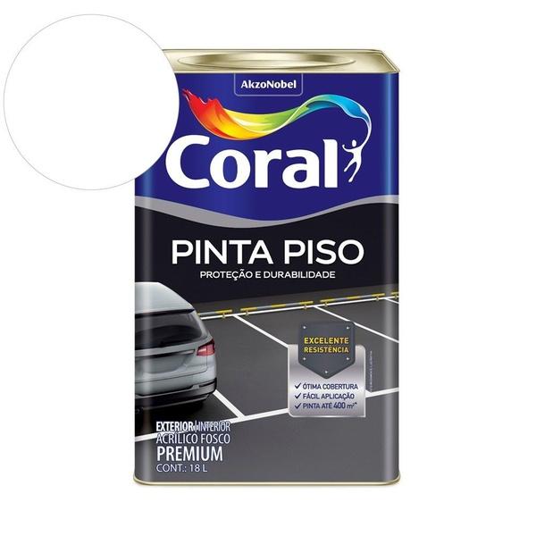 TINTA ACRÍLICA FOSCO PINTA PISO BRANCA 18L CORAL