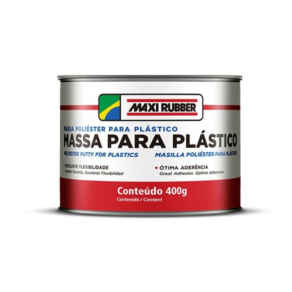 MASSA POLIÉSTER PARA PLÁSTICO 400G COM CATALISADOR MAXI RUBBER