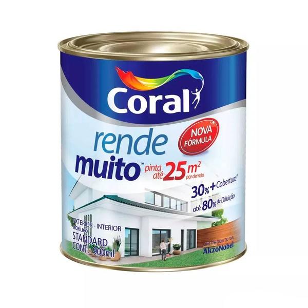 TINTA ACRILICA BRANCO NEVE FOSCO RENDE MUITO 0,9L CORAL