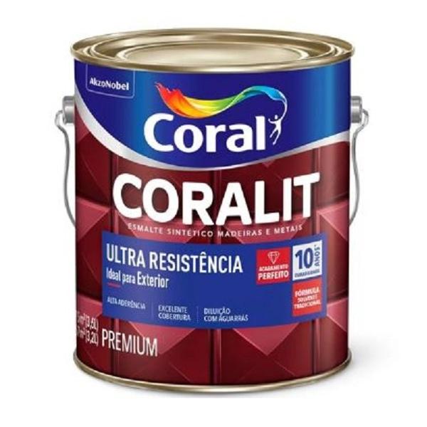 TINTA ESMALTE FOSCO BRANCO ULTRA RESISTÊNCIA 3,6L CORALIT