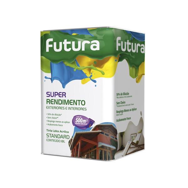 TINTA ACRILICA FOSCO BRANCO NEVE SUPER RENDIMENTO 18L FUTURA