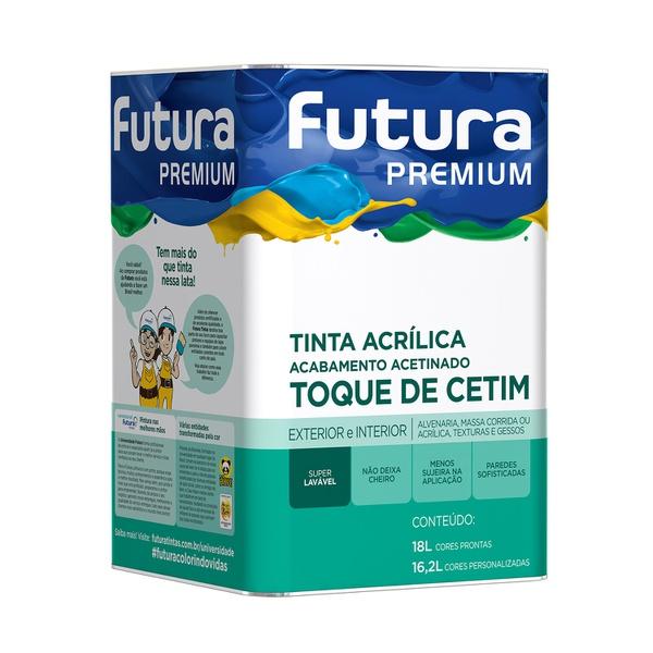 TINTA ACRIÍLICA ACETINADA BRANCA TOQUE DE CETIM 18L FUTURA