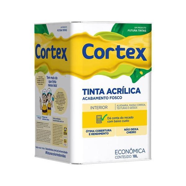TINTA ACRÍLICA FOSCO BRANCO CORTEX 18L FUTURA