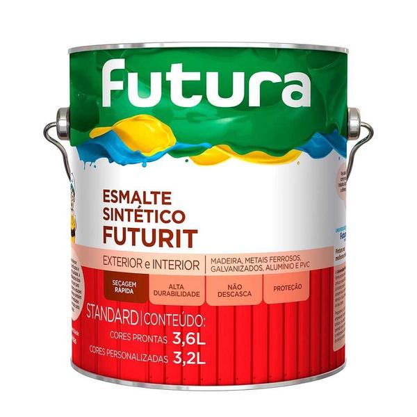 TINTA ESMALTE BRILHANTE CINZA ESCURO STANDARD 3,6L FUTURA