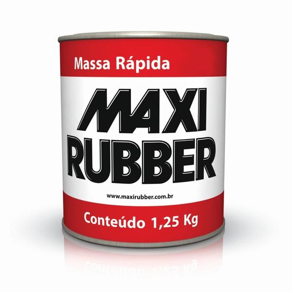 MASSA RÁPIDA BRANCA 0,9L MAXI RUBBER