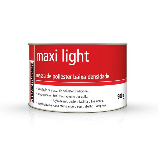MASSA POLIÉSTER MAXI LIGHT 900G COM CATALISADOR MAXI RUBBER