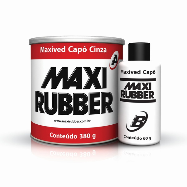 MAXIVED CAPÔ CINZA 380G COM CATALISADOR MAXI RUBBER