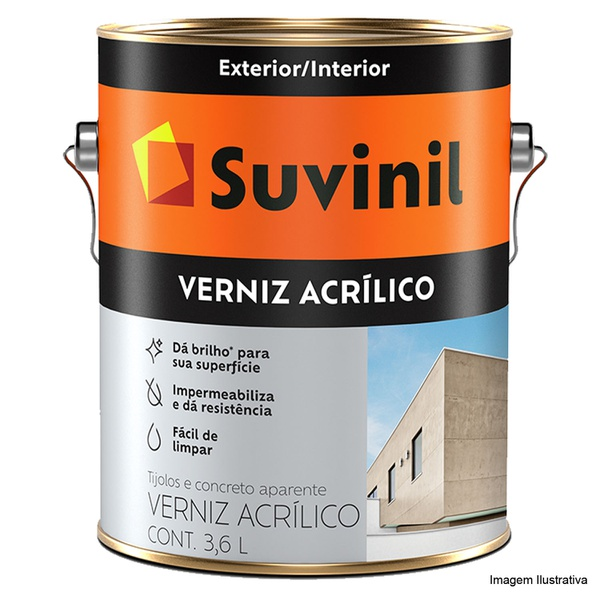 VERNIZ ACRÍLICO INCOLOR SUVINIL 3,6L
