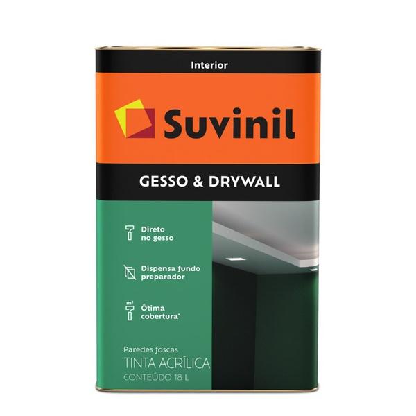 TINTA DIRETO NO GESSO DRYWALL SUVINIL 18L